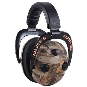 Walkers Game Alpha 360 Power Ear Muffs Camouflage GWP-AM360NXT
