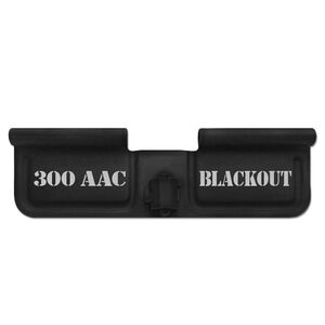 Bastion Gear AR-15 Custom Laser Engraved Ejection Port Door Dust Cover 300 AAC Blackout Matte Black