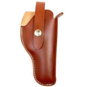 """Hunter Company VersaFit 5.5"""" to 6.5"""" Barrel Single Action Revolvers Belt Holster Right Hand Retention Strap Hand Crafted Top Grain Leather Brown"""