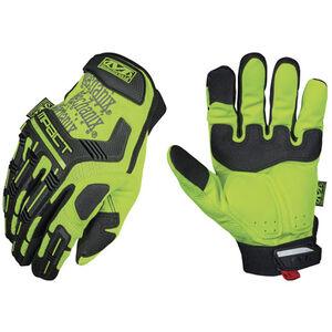Mechanix Wear Hi-Viz M-Pact Safety Glove Synthetic Leather Palm Medium Yellow SMP-91-009