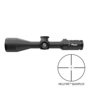 SIG Sauer Whiskey5 3-15x42 Riflescope Illuminated Hellfire Quadplex Reticle 30mm Tube .25 MOA Adjustment Second Focal Plane Black Finish