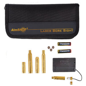 AimSHOT Red Laser Bore Sight Kit Multi Caliber with External Battery Pack