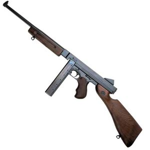 "Auto-Ordnance Thompson M1 Semi Auto Carbine .45 ACP 16.5"" Smooth Barrel 30 Round Stick Magazine Blade Front Sight Fixed Battle Rear Walnut Stock/Forend Blued Finish TM1"