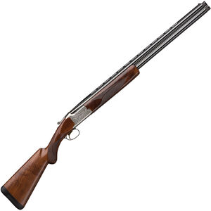 "Browning Citori White Lightning O/U Shotgun 12 Gauge 26"" Vent Rib Double Barrel 3"" Chamber 2 Rounds Walnut Stock Silver Receiver with Gold Engravings"