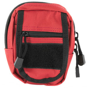"""NcSTAR Small Utility Pouch Heavy Duty Nylon PVC Material 6.5""""x4.25""""x2"""" Red"""