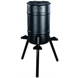On Time Buckeye Gravity Feeder 200 lb Capacity Polymer Black