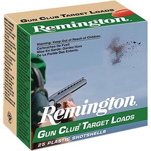 "Remington Gun Club Target Loads 20 Gauge Ammunition 2-3/4"" Shell #8 Lead Shot 7/8oz 1200fps"