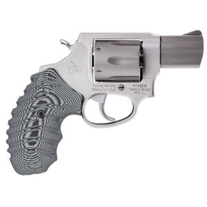 "Taurus 856 UL Ultra Lite .38 Special +P Single/Double Action Revolver 2"" Barrel 6 Rounds VZ Operator II Grips Matte Stainless Steel Finish"