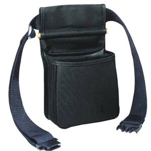 "Bob Allen Divided Shell Pouch with Belt 8""x4""x7"" Twin Compartments Synthetic Fabric Black"