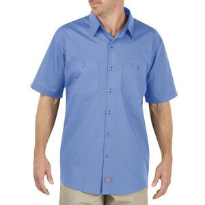 Dickies Men's Industrial WorkTech Short Sleeve Ventilated Performance Shirt 3XL/Tall Light Blue Dow