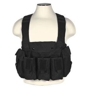 NcSTAR AK Chest Rig Holds 6 AK style Magazines and 2 Addition Item Pouches Nylon Black