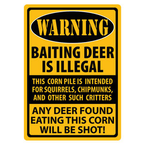 "Rivers Edge Products 'Baiting Deer' Metal Sign 12""x17"" 1488"