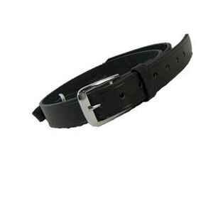 "Boston Leather Sam Browne Shoulder Strap with D-rings 1.25""  Regular Nickel Snaps Plain Black 6511-1-N"