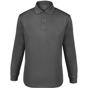 Elbeco UFX Tactical Polo Men's Long Sleeve Polo Small 100% Polyester Swiss Pique Knit Black
