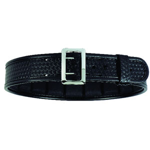 "Bianchi Model 7965 ErgoTek Duty Belt 2.25"" Size 32 Chrome Buckle Plain Black"