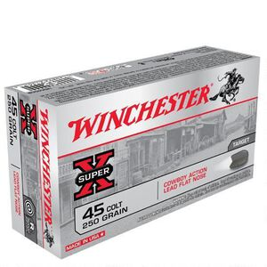Winchester Super X .45 Colt Ammunition 50 Rounds, LFN,  250 Grain