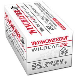 Winchester Wildcat 22 .22LR Ammunition 40 Grain LRN 1255 fps