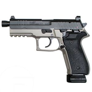 "FIME Group Rex Zero 1 Tactical Semi Auto Pistol 9mm Luger 4.9"" Threaded Barrel 20 Rounds High Profile Steel Sights Optics Ready Platform Black/Smoke Grey"