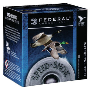 "Federal Speed Shok Waterfowl Steel 12 Gauge Ammunition 3"" BBB Steel Shot 1-1/8 oz 1550 fps"