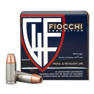 Fiocchi 9mm Luger 147gr JHP 950 fps 25 Rounds