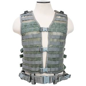 NcSTAR PAL Modular Vest MOLLE Compatible with Pistol Belt Size med to 2XL Nylon Digital Camo