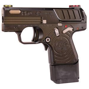 "Heizer Defense PKO-45 Semi Auto Pistol .45 ACP 2.75"" Barrel 7 Rounds Hi-Viz Fiber Optic Sights USA Aerospace Grade Stainless Steel Construction Jet Black Finish"