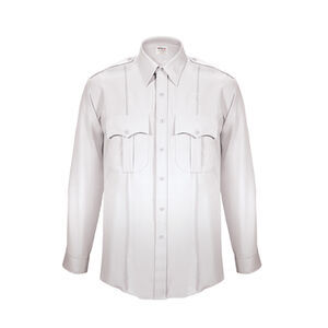 Elbeco TexTrop2 Men's Long Sleeve Shirt with Zipper Size 19 Neck 37 Sleeve White