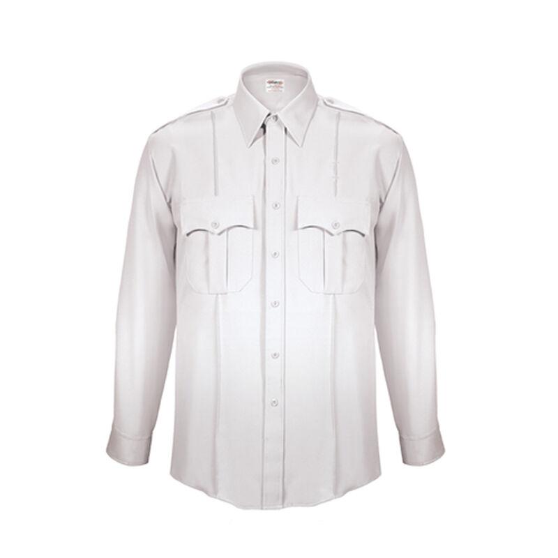 Elbeco TexTrop2 Men's Long Sleeve Shirt with Zipper Size 19 Neck 37 Sleeve White