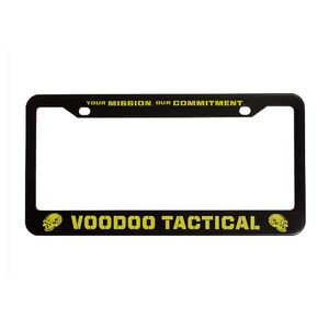 Voodoo Tactical Voodoo License Plate Frame Black and Yellow