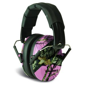Walkers Game Ear Pro Low Profile Folding Muff, NRR 31db, Mossy Oak Pink Camo