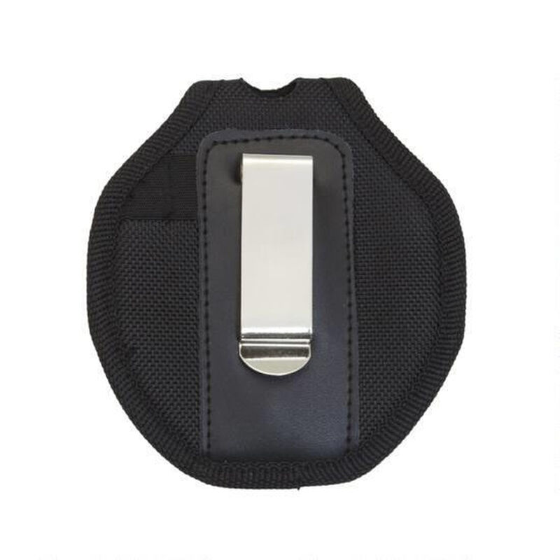UZI Nylon Reinforced Handcuff Case with Metal Pocket Clip and Key Holder Black UZI-CUFFCASE