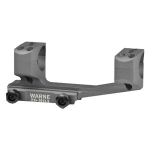 Warne Scope Mounts Gen 2 Extended SKEL One Piece MSR/AR-15 Skeletonized Scope Mount 34mm Tube Diameter 20 MOA Lightweight 6061 Aluminum Matte Black