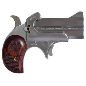 "Bond Arms Cowboy Defender Derringer Handgun .22 WMR 3"" Barrels 2 Rounds Rosewood Grip Satin Polish Stainless Steel Finish"