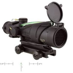 Trijicon ACOG TA31RCO-M150CP-G 4x32 Army Rifle Combat Scope Illuminated Green Chevron .223 Ballistic Reticle 1/2 MOA Aluminum Black with TA51 Mount and Kill Flash TA31RCO-M150CP-G