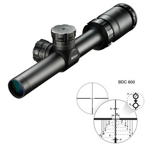 "Nikon P-TACTICAL 1.5-4.5x20 Rifle Scope Non Illuminated BDC 600 Reticle 1"" Tube Fixed Parallax Second Focal Plane Matte Black"