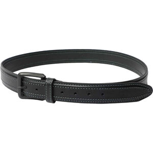 "Beretta Tactical Belt 1.5"" Wide Leather with Rigid Insert Size 40"" Black"