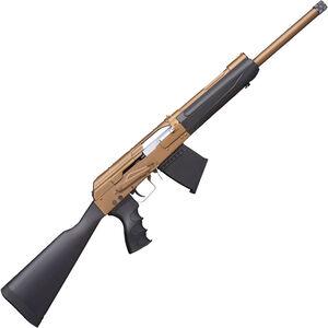 "I.O. Inc. IO XP AK Shotgun 12 Gauge Semi Auto Shotgun 19"" Threaded Barrel 5 Rounds Uses Saiga Style Magazines Black Synthetic Stock and Forend FDE Finish"