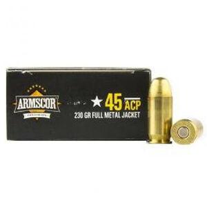 Armscor USA .45 ACP Ammunition 20 Rounds JHP 230 Grains AC45A-10N