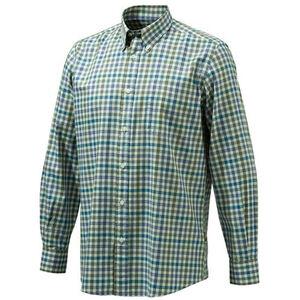 Beretta Men's Classic Drip Dry Shirt Long Sleeve 3XL Beige Checkered