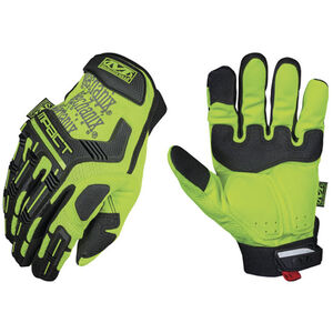Mechanix Wear Hi-Viz M-Pact Safety Glove Synthetic Leather Palm XL Yellow SMP-91-011