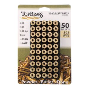 Top Brass .308 Win Reconditioned Brass 50 Count with Tray