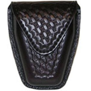 Safariland Model 190 Handcuff Pouch Chain Cuffs Top Flap Hidden Snap SafariLaminate Basket Black 190-4HS