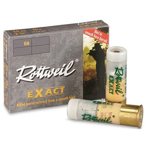 "RWS Rottweil Exact Magnum 20 Gauge Ammunition 5 Rounds 3"" 15/16oz Lead Slug 1495fps"