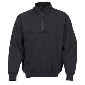 Elbeco Shield Job Shirts Self Collar Size Large Regular Cotton Blended Fleece Midnight Navy