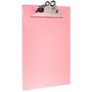US-Works Recycled Plastic Clipboard Letter/A4 Size, Pink