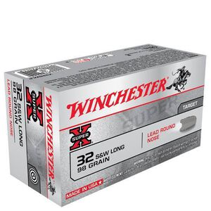 Winchester SuperX .32 S&W Long 98 Grain LRN 50 Round Box