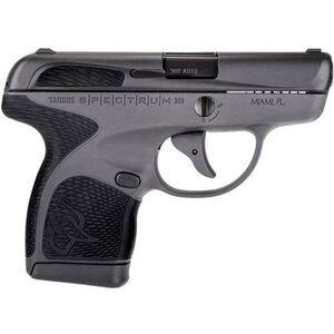 "Taurus Spectrum .380 ACP Semi Auto Pistol 2.8"" Barrel 6 Rounds Polymer Frame Two Tone Black/Gray Finish"