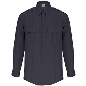 Elbeco Textrop2 Men's Long Sleeve Shirt with Zipper Polyester 14.5x35 Navy