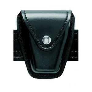 Safariland Model 190 Handcuff Pouch Chain Cuffs Top Flap Chrome Snap SafariLaminate Hi Gloss Black 190-2-9