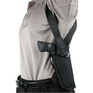 "BLACKHAWK! Vertical Shoulder Holster 5.5"" to 6"" Barrel .22 Autos/Airguns Right Hand Black Nylon 40VH06BK-R"